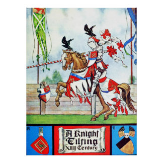 The Jousting Knight Poster