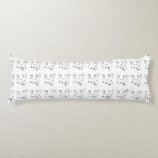 The Joy Of A Smiling Dog Body Pillow