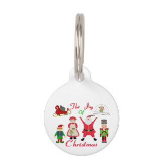 The Joy Of Christmas Collage Pet Name Tag