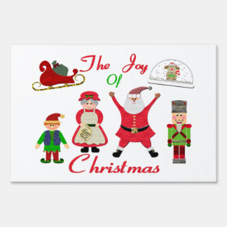 The Joy Of Christmas Collage Sign