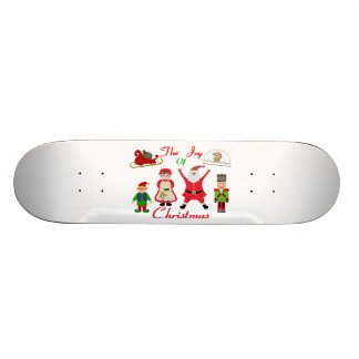 The Joy Of Christmas Collage Skateboard Deck