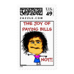 The Joy of Paying Bills Stamp