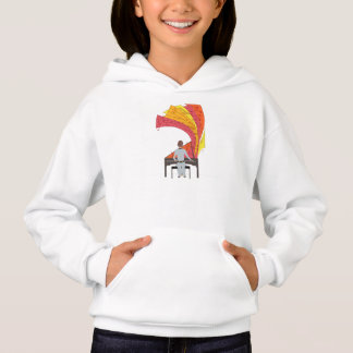 The joy of playing piano hoodie