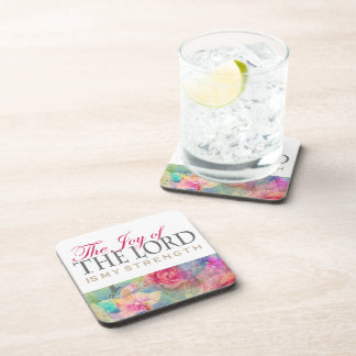 The joy of the Lord, customizable gifts Beverage Coaster