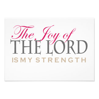 The joy of the Lord customizable gifts Personalized Invites