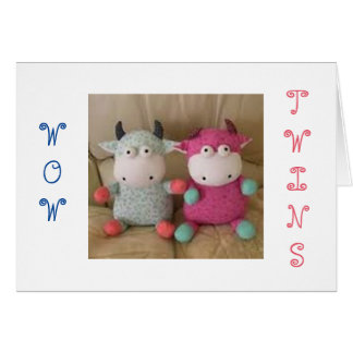 THE JOY OF TWIN GIRL/BOY DOUBLES EVERYTHING CARD
