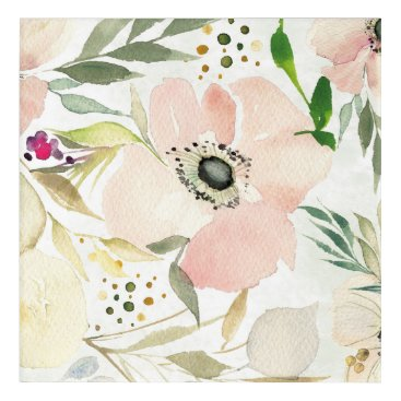 Art Themed The Joy of White | Watercolor Floral Pattern Acrylic Print