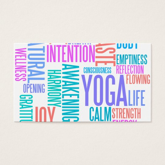 The joy of yoga elegant pastel colored word cloud business card the joy of yoga elegant pastel colored word cloud business card reheart Images
