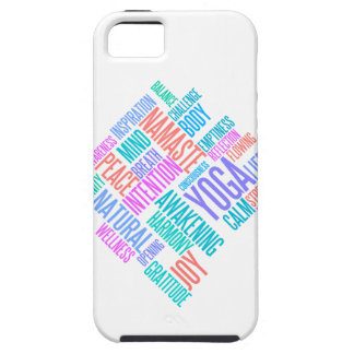 The Joy of Yoga Elegant Pastel Colored Word Cloud iPhone SE/5/5s Case