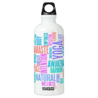 The Joy of Yoga Elegant Pastel Colored Word Cloud SIGG Traveler 0.6L Water Bottle