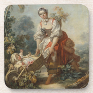 The Joys of Motherhood by Fragonard Drink Coaster