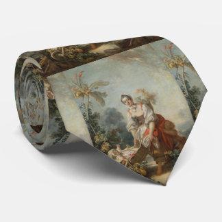 The Joys of Motherhood by Fragonard Neck Tie