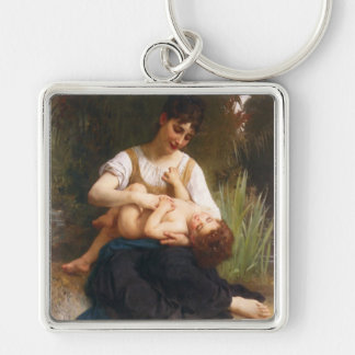 The Joys Of Motherhood by William Bougereau Keychain