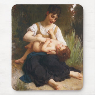 The Joys Of Motherhood by William Bougereau Mouse Pad