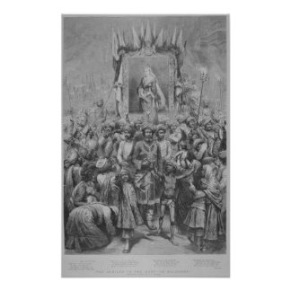 The Jubilee in the East- An Allegory, 1887 Poster