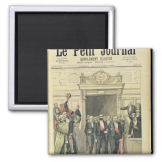 The Jubilee of Louis Pasteur  at the Sorbonne 2 Inch Square Magnet
