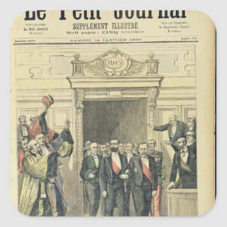 The Jubilee of Louis Pasteur  at the Sorbonne Square Sticker