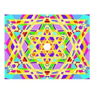 The Judaical vitrail. Postcard