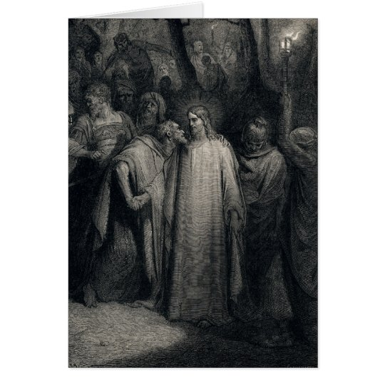 The Judas Kiss by Gustave Dore Card
