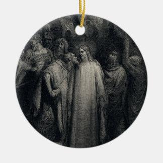The Judas Kiss by Gustave Dore Ceramic Ornament