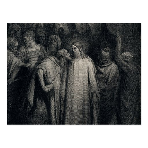 The Judas Kiss by Gustave Dore Postcards