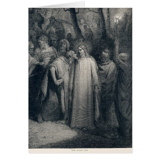 The Judas Kiss Mark 14:45 by Gustave Doré 1866 Card