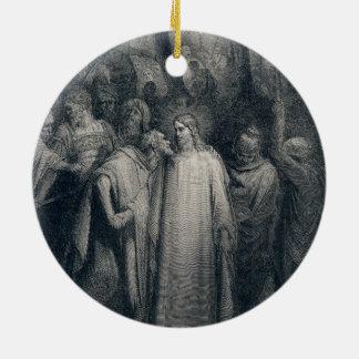 The Judas Kiss Mark 14:45 by Gustave Doré 1866 Ceramic Ornament