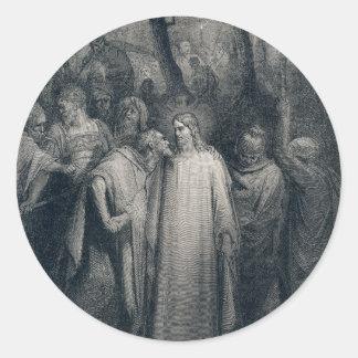 The Judas Kiss Mark 14:45 by Gustave Doré 1866 Classic Round Sticker