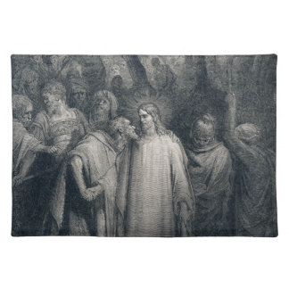 The Judas Kiss Mark 14:45 by Gustave Doré 1866 Place Mat