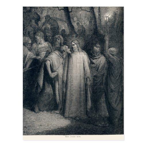 The Judas Kiss Mark 14:45 by Gustave Doré 1866 Postcards