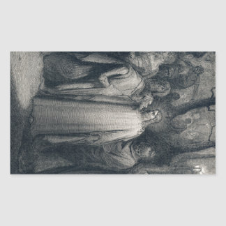 The Judas Kiss Mark 14:45 by Gustave Doré 1866 Rectangular Sticker