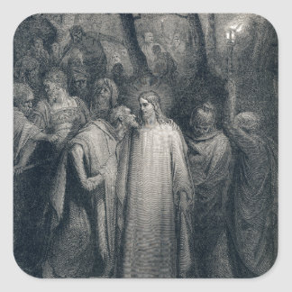 The Judas Kiss Mark 14:45 by Gustave Doré 1866 Square Sticker