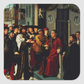 The Judgement of Cambyses 1498 Square Sticker