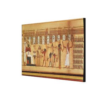 The Judgement of Osiris, detail Canvas Print