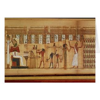 The Judgement of Osiris, detail Card