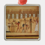 The Judgement of Osiris, detail Square Metal Christmas Ornament