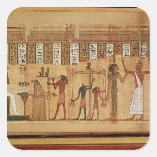 The Judgement of Osiris, detail Square Sticker