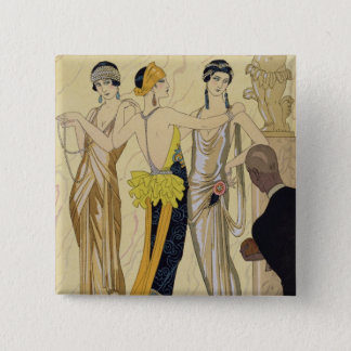 The Judgement of Paris, 1920-30 (pochoir print) Pinback Button
