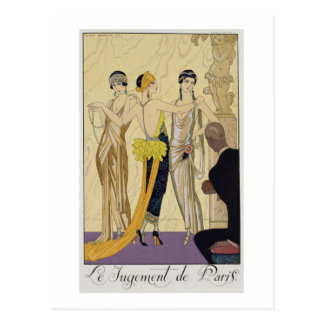 The Judgement of Paris, 1920-30 (pochoir print) Postcard