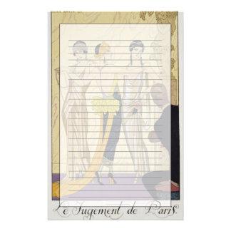 The Judgement of Paris, 1920-30 (pochoir print) Stationery Design