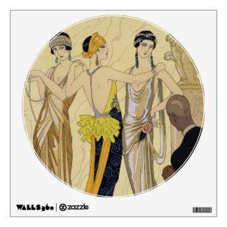 The Judgement of Paris, 1920-30 (pochoir print) Wall Sticker