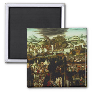 The Judgement of Paris and the Trojan War, 1540 2 Inch Square Magnet