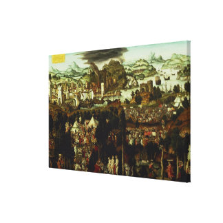 The Judgement of Paris and the Trojan War, 1540 Canvas Print