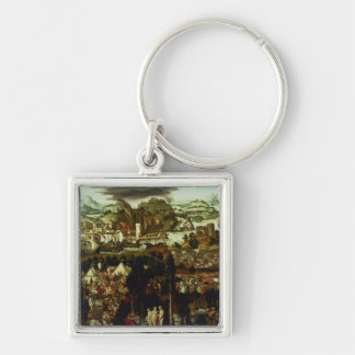The Judgement of Paris and the Trojan War, 1540 Keychain
