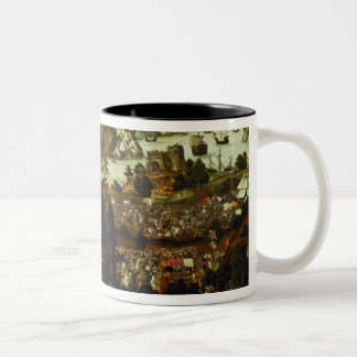 The Judgement of Paris and the Trojan War, 1540 Two-Tone Coffee Mug
