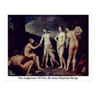 The Judgement Of Paris By Anton Raphael Mengs Postcard