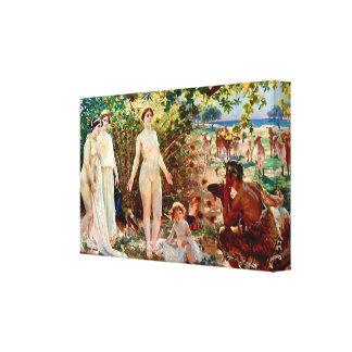 The Judgement of Paris Stretched Canvas Print