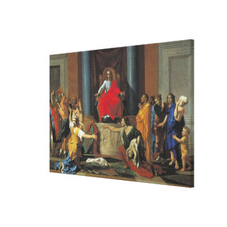 The Judgement of Solomon 1649 Gallery Wrapped Canvas