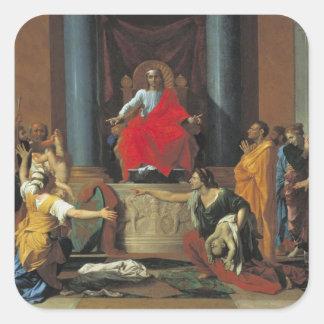 The Judgement of Solomon, 1649 Square Sticker