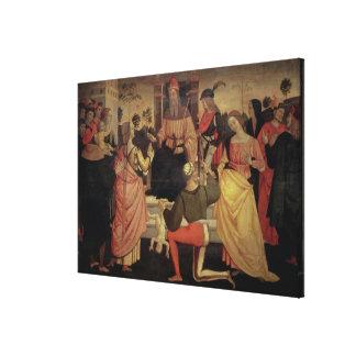 The Judgement of Solomon Canvas Prints